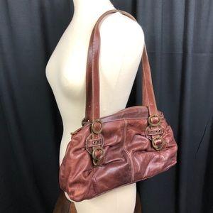 Vera Pelle Leather Shoulder Bag F194